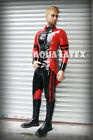Striped Detailed Coat Tail Shirt Latex Rubber Tailcoat Fashion Rubber Coat