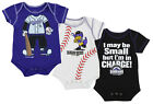 Outerstuff MLB Infant Colorado Rockies 3 Piece Bodysuit Pack, Purple/Black/White
