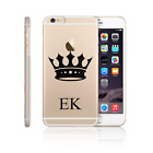 HAIRYWORM PERSONALISED INITIALS NAME ON CLEAR HARD PHONE CASE FOR APPLE SAMSUNG