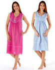 Womens Ladies Sleeveless Nightwear NightDress Floral Cotton Rich 10-24