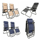 2 PCS Zero Gravity Chair Lounge Patio Chairs with Cup Holder OSHION
