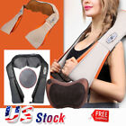 Electric 4D Knock Back Neck Massager Shoulder Massage with Heat and Timing US