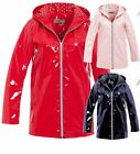 Womens Rain Mac Waterproof Ladies Vinyl Raincoat Jacket Size 8 10 12 14 16