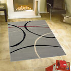 GREY MEDIUM AND LARGE RETRO MODERN CONTEMPORARY RUG - CLEARANCE PRICE