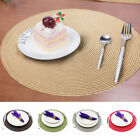 1pc Jacquard Weaved Round Non Slip Placemats Dining Table Mats Circular Placemat