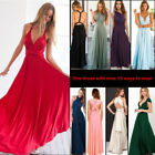 Women Long Formal Bridesmaid Dress Evening Party Ball Gown Prom Cocktail Wedding