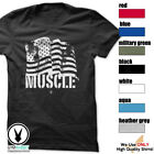 AMERICAN MUSCLE Gym Rabbit T Shirt Workout Bodybuilding Fitness Lift Heavy c966 image