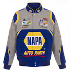 2018 Chase Elliott JH Design NAPA Full-Snap Twill Uniform Jacket Gray  Royal