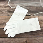 Girls White First Holy Communion Wrist Gloves Rhinestone Cross Satin Age 4-12