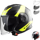 LS2 OF570 Verso Technik Open Face Motorcycle Helmet & Visor Urban City Bike ECE