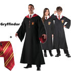 Harry Potter Cape Gryffindor/Slytherin/Hufflepuff/Ravenclaw Robe Cloak with Tie