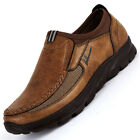 Fashion Mens Leather Casual Shoes Breathable Slip on Loafers Antiskid Moccasins