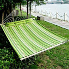 Hammock Quilted Fabric With Pillow Spreader Bar Heavy Duty Stylish  250 lbs