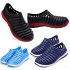 Summer Men's Breathable Hole Slippers Hollow Beach Sandals Garden Slip on Shoes