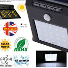 LED Solar Power PIR Motion Sensor Wall Security Light Lamp Patio Garden Outdoor