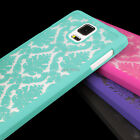 samsung note 4 accessories - For Samsung Galaxy Note 4 Damask Vintage Pattern Rubberized Phone Case Cover