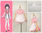Blend・SSakuranomiya Maik Apron Dress Skirt Maid Servant  Cosplay Costume Custom
