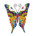 Colorful Metal Mexican Talavera Style Garden Wall Art, by Collections Etc