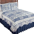 Classic Floral Patchwork Reversible Quilt, by Collections Etc image