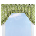 Ruffled Leaf Swag Window Curtain Valance Topper, by Collections Etc