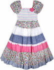 Girls Short Sleeved New Floral Gypsy Dress Kids Summer Cotton Dresses Age 3-11 Y