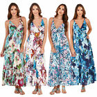 Pistachio Womens Strappy Floral Print Maxi Ladies Summer Print Long Length Dress