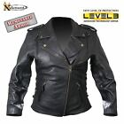 Xelement Classic B8301 Women's Armored Cowhide Leather Motorcycle Jacket