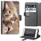 HAIRYWORM ANIMAL BROWN CAT PAWS LEATHER WALLET PHONE CASE, FLIP CASE, COVER