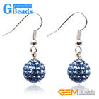 10mm Czech Rhinestones Crystal Ball Pave Sparkle Dangle Earrings Free Shipping