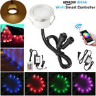 10XΦ45mm 12V Smart WIFI Control RGB+WW Yard Landscape LED Deck Stair Rail Lights