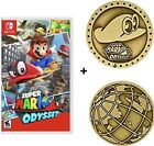 Brand New Super Mario Odyssey Nintendo Switch 2017 +/or Cappy Collectible Coin