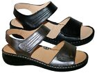 LADIES PU WIDE FIT TOUCH AND CLOSE FASTENING OPEN TOE SANDAL SIZES 3-8