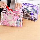 Waterproof Clear Women Cosmetic Toiletry PVC Floral Makeup Wash Bag Pouch Travel