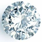 Loose Moissanite Off White Blue (VVS1-VVS2) 11.00 MM to 13.70 MM Round Cut