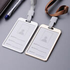 NEW Aluminum Alloy Business Work Card ID Badge Lanyard Holder Vertical Metal