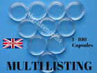20 mm COIN CAPSULES SUITABLE FOR HALF SOVEREIGN and SIXPENCE (1-100 Capsules).
