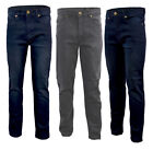 Mens Big Plus Size Stretch Fashion Slim Fit Denim Jeans Blue Grey Waist 32-48
