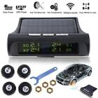 Solar Power Car Auto TPMS Tire Pressure LCD Monitor System Wireless + 4 Sensors