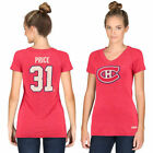 CCM Carey Price Montreal Canadiens Women's Red Name & Number Tri-Blend V-Neck