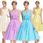 Ball Dress Evening Prom Size Cocktail Formal Party V-neck Bridesmaid Short Gown