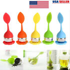 Silicone Stainless Steel Loose Leaf Tea Strainer Teaspoon Infuser Ball Filter HX