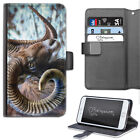 Mouflon Sheep Phone Case, PU Leather Wallet Flip Case, Cover For Samsung, Apple
