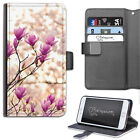 Purple Tree Blossom Phone Case, PU Leather Wallet Case, Cover For Samsung, Apple
