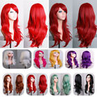 black hair with ombre red - Blonde Ombre Hair Wig With Bangs Halloween Costume Cosplay Full Head Wigs Long #