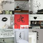 VINYL WALL STICKERS! Interior Home Art Decor Quote Removable Decal Transfer UK