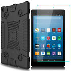 For Amazon Kindle Fire HD 8 7 2017 Shockproof Hybrid Soft Case +Screen Protector