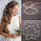 "Внешний вид - 59"" Long Wedding Hair Vine Crystal Pearl Headband Bridal Accessories Gold Silver"