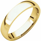 14K Yellow Gold 4mm Light Comfort Fit Band