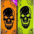 Spooky Horror Halloween Party Prop Skull Door Cover Light Up Through Neon Bright