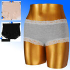 Ladies Marks & Spencer 3PACK-Comfort Scroll Lace High Leg Shorts Full Briefs M&S
